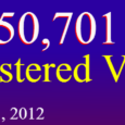 The Guam Election Commission is pleased to announce that Guam has 50,701 registered voters as of November 01, 2012.