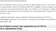 Pursuant to §3123 of Public Law 31-255, please be informed that the Guam Election Commission (GEC) intends to cancel the following voter registrations on May 1, 2013, since the GEC […]