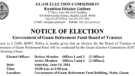 Official Results   OFFICIAL RESULTS (as of 06/19/2014)   Retiree Member Offices Eligible Retiree Members: 5,882 Voters: 396 (VOTE FOR 2) CANDIDATE VOTES PERCENT 1.  LEON GUERRERO, WILFRED P. 240 […]