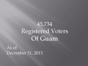 12.31.13 Registered Voters of Guam