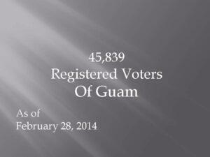 2.28.14 Registered Voters of Guam
