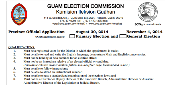 2014 Precinct Official Applications are available here!  QUALIFICATIONS: Must be a registered voter for the District in which the appointment is made; Must be able to read and write […]