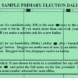 Click the link here to see sample ballots for the August 30, 2014 Primary Election. These links will open a new window or tab in your browser. 2014 Sample Primary […]