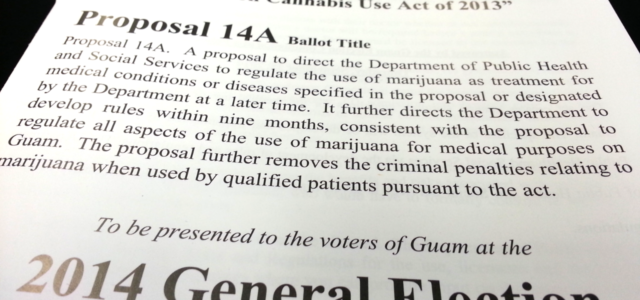 "Click here for a PDF version of the Pamphlet for ""Legislative-Submitted Referendum: Proposal 14A The Joaquin (KC) Concepcion II Compassionate Cannabis Use Act of 2013″. Pursuant to Title 6 of […]"