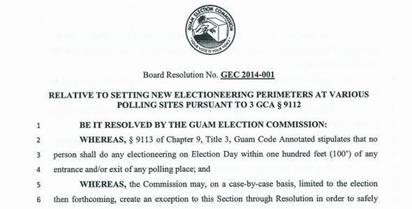 A scanned version of this resolution can viewed and downloaded from teh following: https://docs.google.com/a/gec.guam.gov/file/d/0B3s_sKxN0dBUMFM4NUZ3NHZUUnc/edit  Click here to read text Board Resolution No. GEC 2014-001 RELATIVE TO SETTING NEW […]