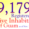 The Guam Election Commission is pleased to announce that as of November30, 2015there are 9,179 registered Native Inhabitants of Guam. View our most recent precinct-level report (PDF)