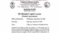 Invitation for Bid # GEC-15-02 60-Month Copier Lease (Pooled Agreement)  Issue Date:Wednesday, September16, 2015 Bid Due Date:2:00 p.m., Thursday, October 8, 2015–Chamorro Standard Time Place of Submission: Guam Election […]