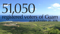 The Guam Election Commission is pleased to announce that, as of October 20, 2016, there are 51,050 registered voters of Guam.