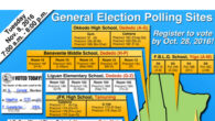 Click here to view the full size map of the polling sites for the 2016 General Election.