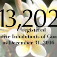 The Guam Election Commission is pleased to announce that, as of December 31, 2016, there are 13,202 registered Native Inhabitants of Guam. Click here to view our most recent precinct-level report. (PDF)