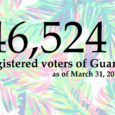 The Guam Election Commission is pleased to announce that, as of March 31, 2017, there are 46,524 registered voters of Guam.