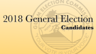2018 General Election Candidates  Candidates for the Office of Governor and Lieutenant Governor of Guam Leon Guerrero, Lourdes Aflague and Tenorio, Joshua Franquez (Democrat) Tenorio, Raymond S. and Ada, […]