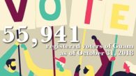 The Guam Election Commission is pleased to announce that, as of October 31, 2018, there are 55,941 registered voters of Guam.