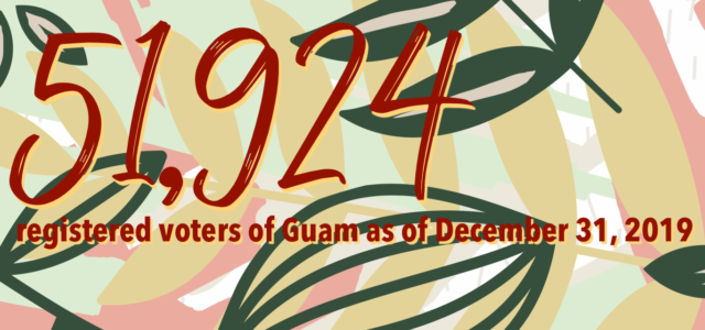 The Guam Election Commission is pleased to announce that, as of December 31, 2019, there are 51,924 registered voters of Guam.