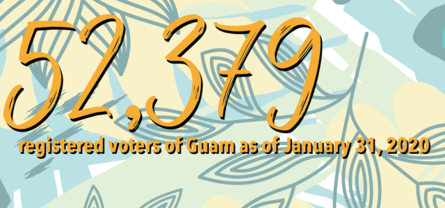 The Guam Election Commission is pleased to announce that, as of January 31, 2019, there are 52,379 registered voters of Guam.