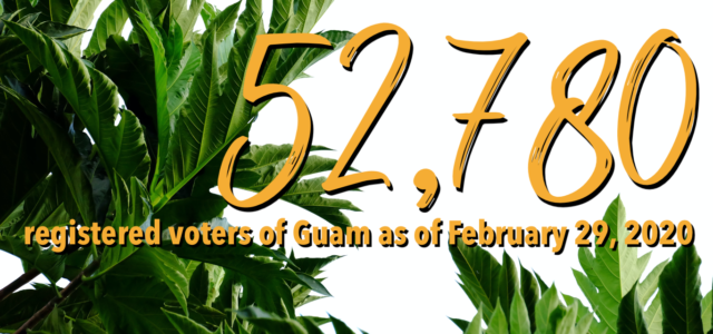 The Guam Election Commission is pleased to announce that, as of February 29, 2020, there are 52,780 registered voters of Guam.