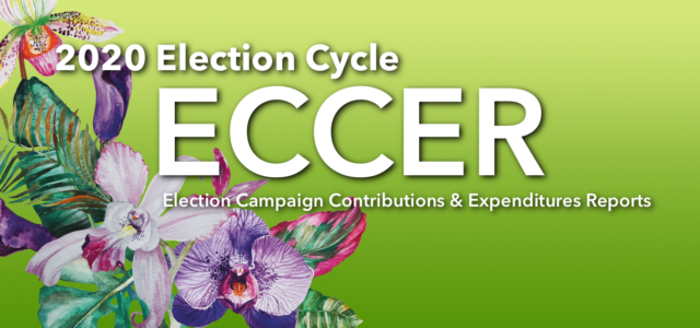 Please click here for a list of Active Campaign Organizations for the 2020 Election Cycle. If you would like to review specific reports, please email eccer@gec.guam.gov noting the candidate and […]