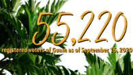 The Guam Election Commission is pleased to announce that, as of September 15, 2020, there are 55,220 registered voters of Guam.