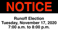 Pursuant to 48 USC 1712, a Runoff Election will be held on Tuesday, November 17, 2020. The Guam Election Commission determined that a runoff election for the Non-Voting Delegate to […]